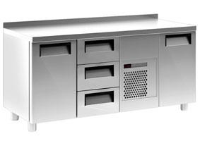 Холодильный стол Carboma T70 M3-1 (3GN/NT) (2 двери 3 ящика)
